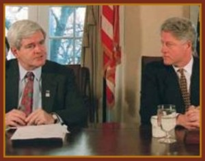 Gingrich-Clinton-1995-shutdown