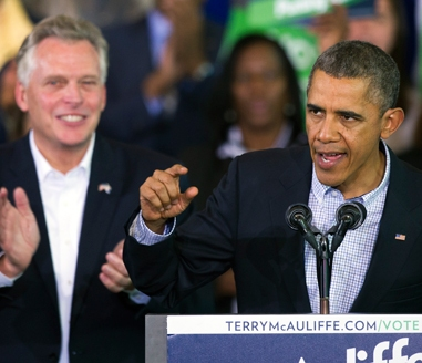 MCAULIFFE-OBAMA-AP PHOTO